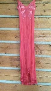 coral lingerie dress
