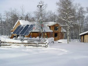 C.C. Havens' cabin in the snow